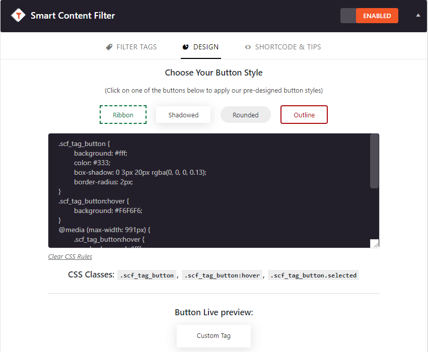 Smart Content Filter - A Post Content Filter WordPress Plugin
