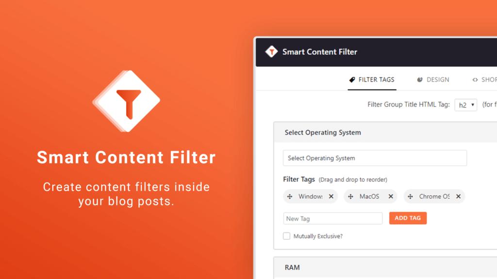 Smart Content Filter - A Post Content Filter WordPress Plugin