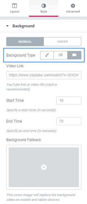 Add Video Background In Elementor