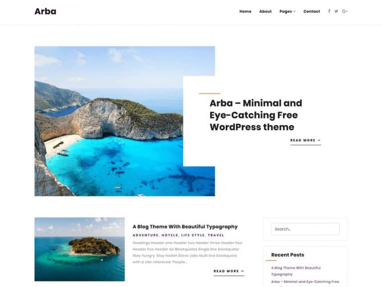 Arba WordPress Theme