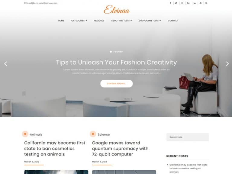 Elvina WordPress Theme