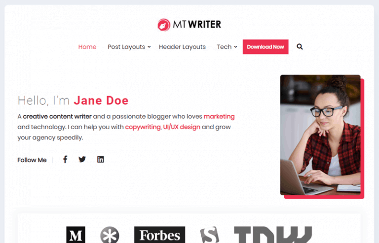 MT Writer WordPress Theme