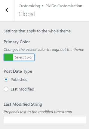 PixiGo - Color Options