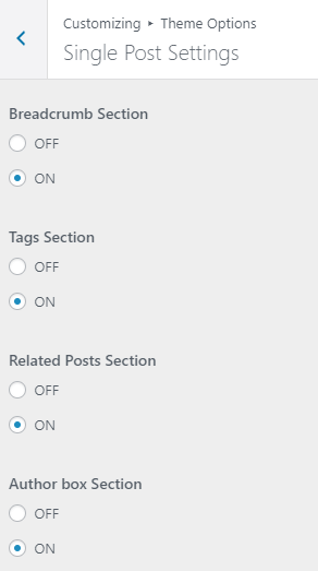 Schema Lite - Single Post Settings