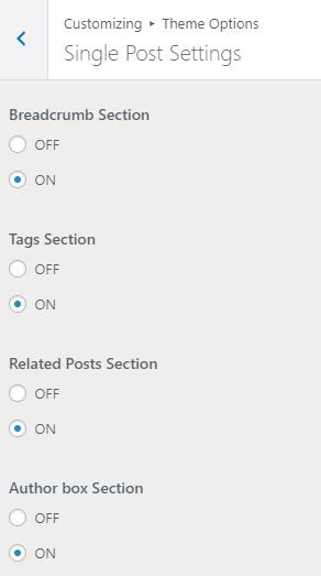 Schema Lite - Single Post Settings