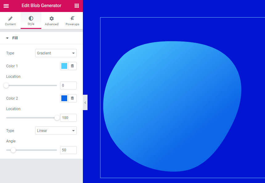 Designer-Powerup-Gradient-Blobs Settings