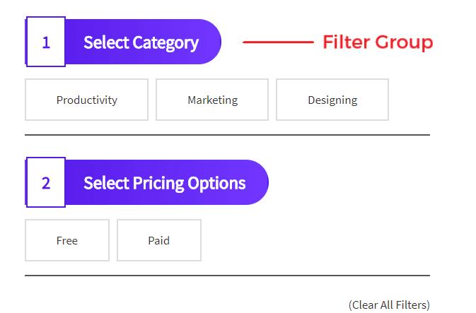 SCF Filter Groups