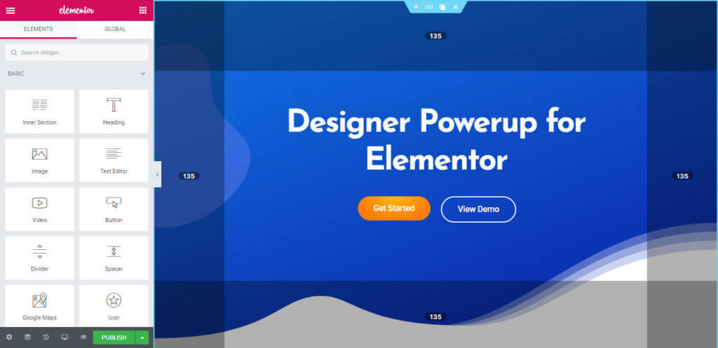 Designer Powerup for Elementor Features Showcase