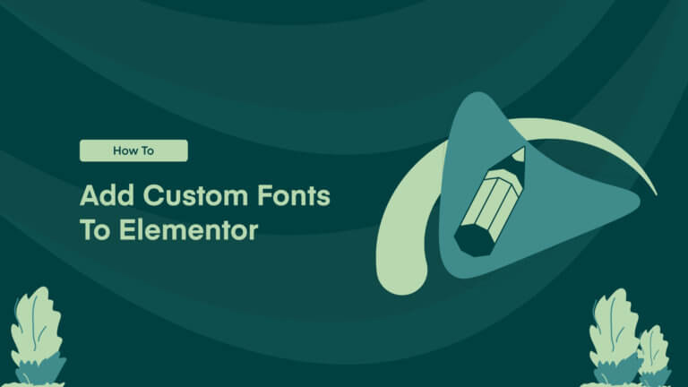 Elementor Custom Fonts