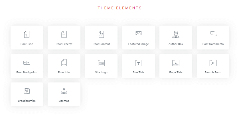 Elementor Pro - Theme Elements