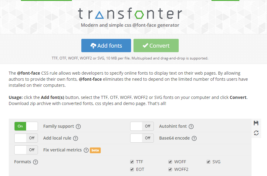 Transfonter - Elementor Custom Fonts