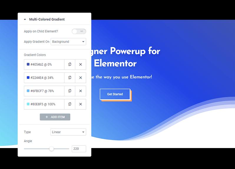 Designer Powerup for Elementor - Advanced Gradients