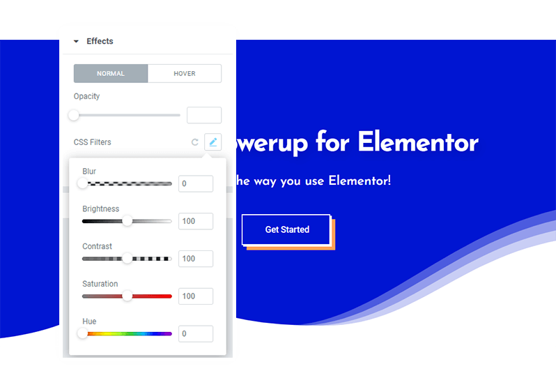 Designer Powerup for Elementor - Filter Effects